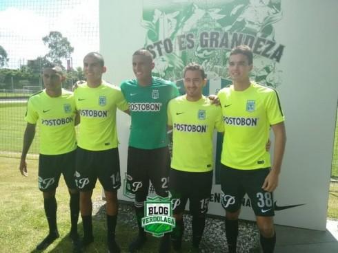 Arley Rodríguez, David Castañeda, Cristian Bonilla, Juan Pablo Nieto y Felipe Aguilar. (Foto: @BlogVerdolaga)